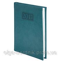 Ежедневник А5 датированный 2017 GENTLE(Torino) A5, 336стр. бирюзовый, BUROMAX, BM.2109-35
