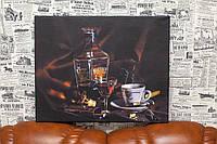 Коньяк и кофе. 40x50 см. Фото на холсте