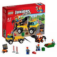 Конструктор лего джуниур Lego Juniors Грузовик для дорожных работ 10683