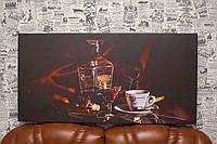 Коньяк и кофе. 100x60 см. Фото на холсте.