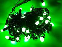 Гирлянда, 50 ламп, 6м, зелений колір
