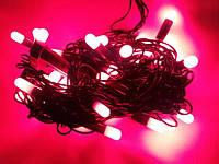 Гирлянда, 50 ламп, 6м, червоний колір
