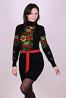 Вязаное платье Рябина черный 42-48