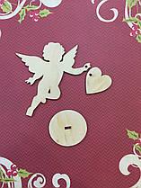 """Фигура из фанеры 0.4 """"Ангел с сердцем"""",13*12 см,741051"""