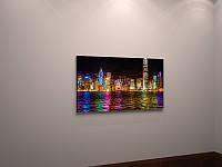Картина ночной город холст