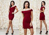 Женское нарядное мини платье МЖ 1025/1NW