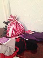 Эксклюзивный подарочный набор носков в мешочке-вышиванке для женщин