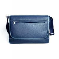 Кожаная мужская сумка Issa Hara BМ5 синяя