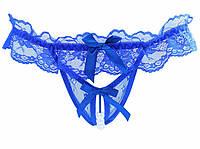 Синие женские трусики