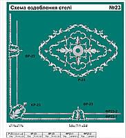 Интерьерная лепнина: розетка декоративная, уголки, молдинг