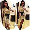 Женское стильное бархатное платье (4 цвета)