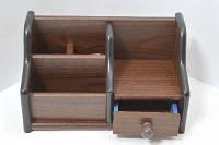 Органайзер, подставка офисная, для канцтоваров дерево №JS8021 (3054-3)