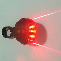 Задний светодиодный фонарь с лазерной дорожкой для вело