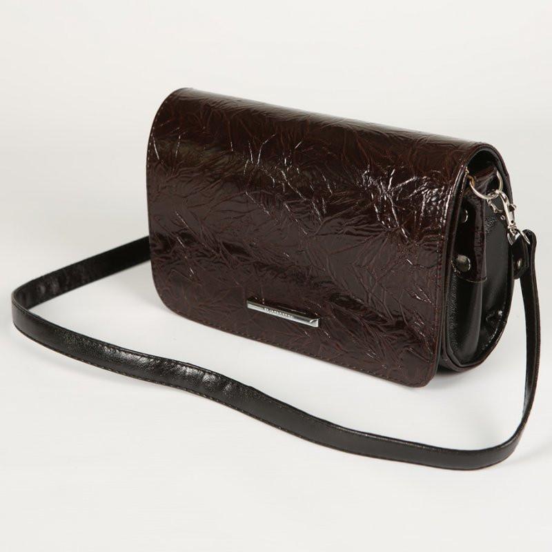 eab6fc01fa26 Бордовый лаковый женский клатч на плечо - Интернет магазин сумок SUMKOFF -  женские и мужские сумки