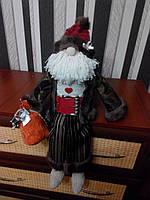 Санта Клаус с колокольчиком ручной работы 7NS