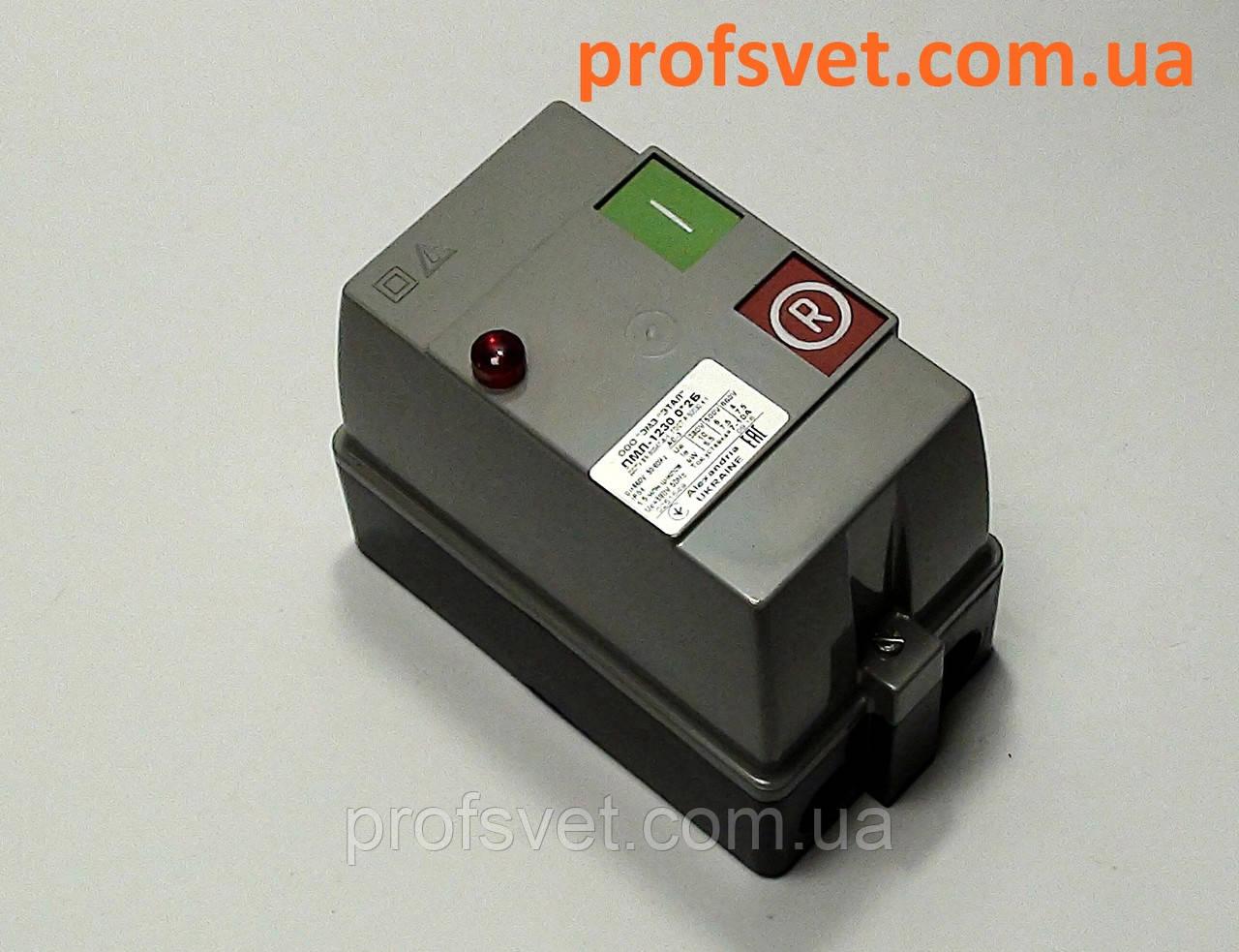 Пускач ПМЛ-1230 10а IP54 з реле кнопки лампа
