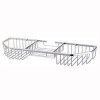 Корзинка для ванной прямоугольная 40.5*13*5см с 3 секциями