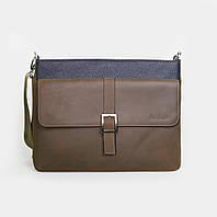 Кожаная мужская сумка Issa Hara B17 коричневая