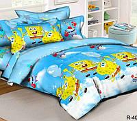 Подростковое постельное белье Губка Боб, ранфорс 100%хлопок - двуспальный комплект