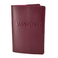 Обложка на паспорт ST-06 (бордовая)