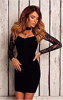 Черное вечернее платье ДМ 1056NW