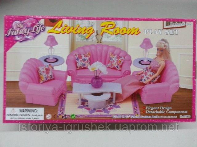 Мебель для кукол (барби) Gloria «Гостинная» 22004