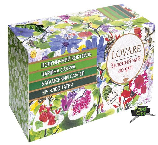 Чай зелений Асорті LOVARE 24 пакетів