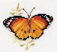 """Набор для вышивки крестом """"Алиса"""" Яркие бабочки. Оранжевая 0-148"""