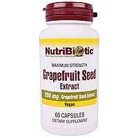 Экстракт грейпфрутовых косточек в таблетках, NutriBiotic, США. 250 мг, 60 ш