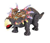 Интерактивный динозавр Трицератопс Triceratops. ходит, светится рычит
