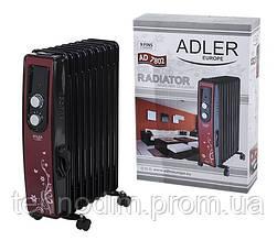 Обогреватель масляный 9 ребер ADLER AD 7802(2000 Вт )