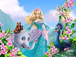 Вафельная и сахарная картинка Барби