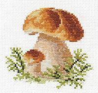 """Набор для вышивки крестом """"Алиса"""" Белые грибы 0-144"""