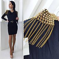 Черное вечернее платье с шипами НШ 50497NW