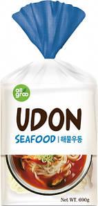 Лапша удон с морепродуктами - готовое блюдо All Gr, 690г