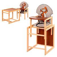 Деревянный стульчик-трансформер для кормления М V-010-26-8 Vivast