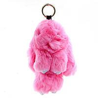 Брелок меховой кролик розовый
