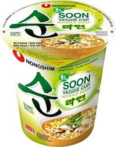 Суп Рамен вегетарианский, слегка острый Nong Shim, 67г