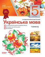 005 кл НП Основа Мій конспект РУ Укр мова 005 кл (до Глазова) (І семестр) РУ Рідна мова