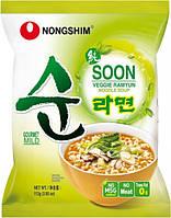 Суп Рамен вегетарианский, слегка острый Nong Shim, 112г