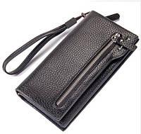 Мужской кожаный клатч кошелек портмоне Baellerry New 2 Цвета