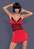Эротическая сорочка  от Obsessive LAMIA RED