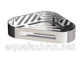 Угловая полочка-решетка в душевую Sonia S5