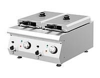 Фритюрница электрическая GGM EFK653-8+8 (со спускным краном)