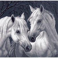 Лошади. Матренин Посад. Канва с нанесенным рисунком