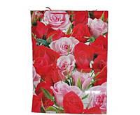 Подарочные пакеты Розы упаковка 12 шт 50х70х20 см
