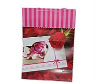 Подарочные пакеты Роза упаковка 12 шт 50х70х20 см