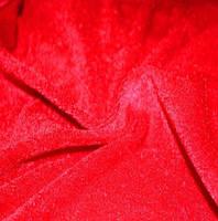 Ткань Велюр стрейч Красный