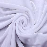 Ткань Велюр стрейч Белый