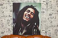 "Фото на холсте ""Боб Марли"". 55x70 см."